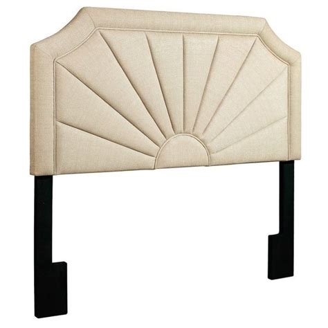 pri fabric upholstered fan panel headboard in beige ds