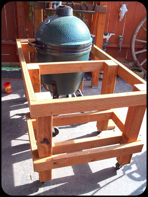 big green egg table plans extra large  woodworking
