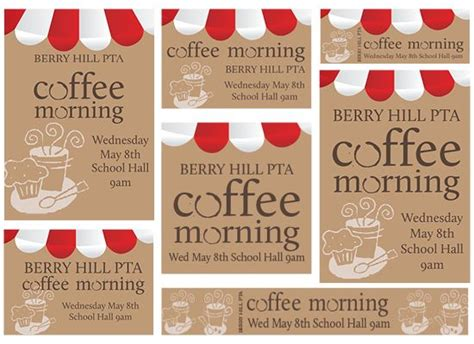Pta Coffee Morning Template Activities And Crafts Pinterest Pta Template And Activities Coffee Morning Invitations Templates