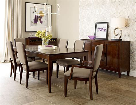 kincaid dining room set elise extendable leg dining room set from kincaid 77 054