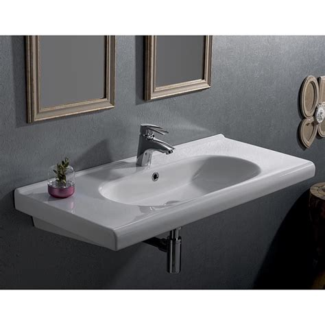 teardrop cer with bathroom cerastyle 069200 u by nameek s city rectangle white ceramic wall mounted sink or drop in sink