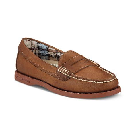 sperry hayden loafer lyst sperry top sider hayden loafer flats in brown