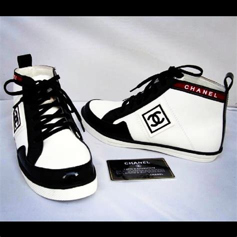 chanel mens sneakers chanel mens shoes sneakers white black hightop laceup