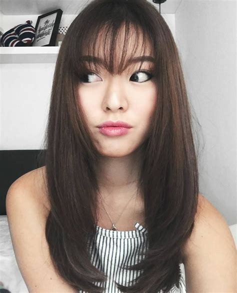 see throuh bangs on a small forehead best fringe styles for 2016