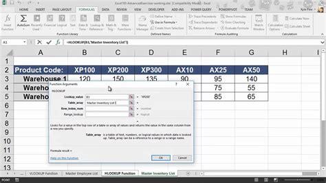 tutorial excel hlookup microsoft excel hlookup exle 01 youtube