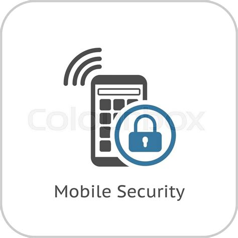 Alarm Mobil Vector mobile security icon flat design business concept isolated illustration stock vector