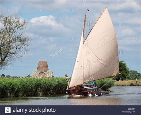 sailing boat yard wooden sailing boat from hunters yard ludham on the river