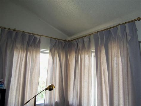 corner curtain rod curved curtain rods for corner windows curtain