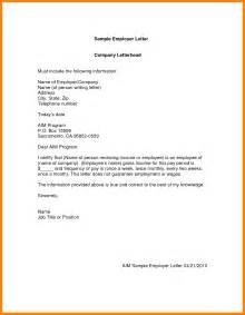 Guarantee Letter From Employer 6 Format Of Guarantor Letter Hostess Resume