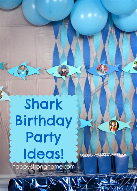 baby shark themed party shark birthday party ideas