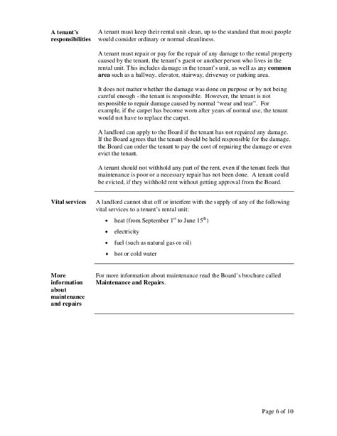 Sle Rent Increase Letter Ontario A Guide To The Ontario Residential Tenancies Act