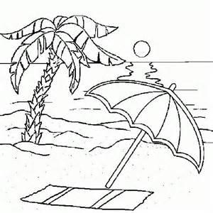 dibujo tumbona playa para colorear buscar con google
