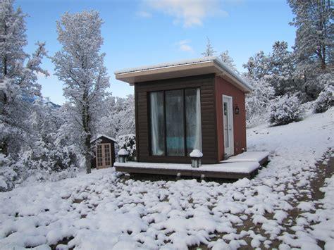 In Cabin by Snowy Landscape Urbanrancher S