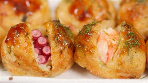 Main Dish Shrimp Recipes - takoyaki and ebiyaki recipe cooking with dog