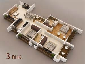 home design 3d 3 bhk interior of vasaione a project by kt mansarovar in vasai