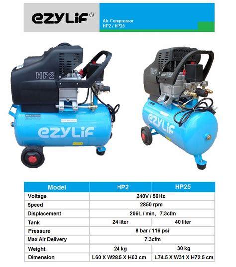 ezylif portable air compressor 2hp 24l ezylif air compressor seremban negeri sembilan ns