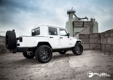 jeep wheels and tires packages this jeep wrangler sporting a fuel rims and tire package