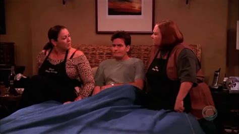 two and a half men couch two and a half men berta s sister daisy hd youtube