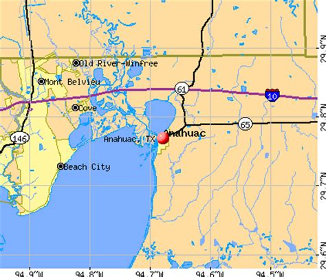 map of anahuac texas anahuac texas tx 77514 profile population maps real estate travelquaz