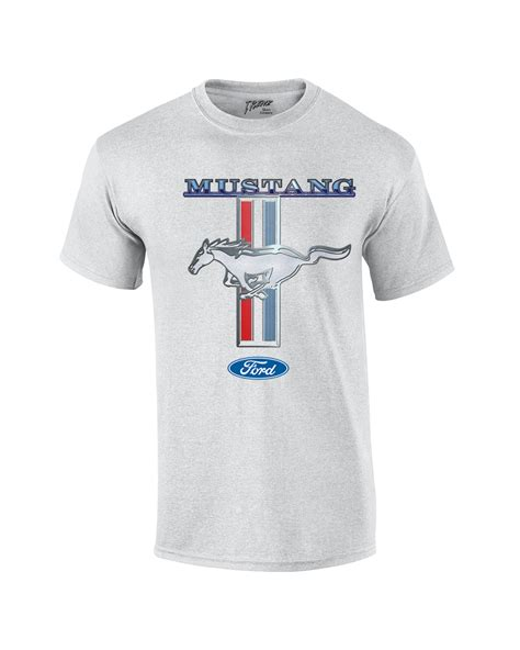 T Shirt Mustang ford mustang t shirt ford mustang pony stripes ebay