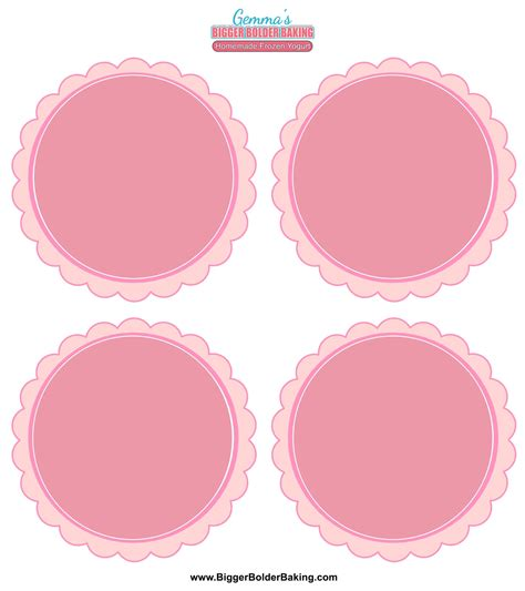 Homemade Frozen Yogurt Labels Template Gemma S Bigger Bolder Baking Free Sticker Templates
