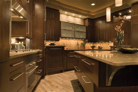 contemporary brown and white cabinet with ceramic floor american tile and stone llc kitchen
