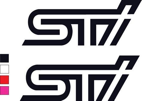 subaru wrc logo 2x sti logo decal sticker vinyl for subaru impreza wrx sti