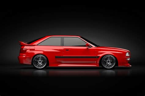 Audi S2 Coupe Tuning by Audi S2 Coupe Cstuffz Wide Body Kit Cool Wheels