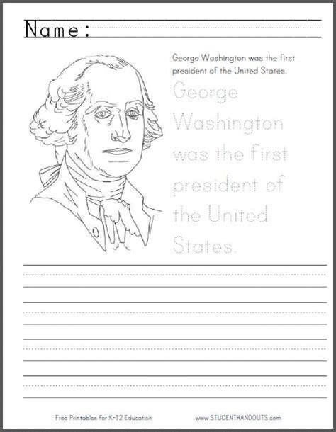 search results for free george washington worksheets george washington coloring page with handwriting practice