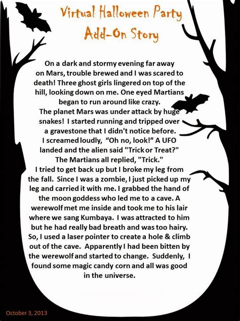 halloween storytime project constraint virtual halloween party spooky add on story