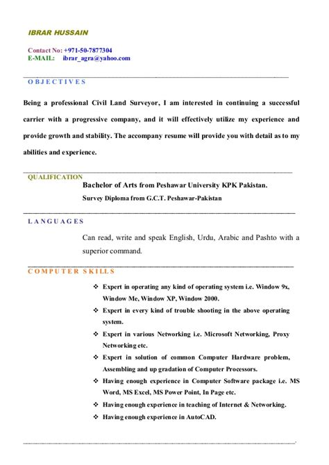 land surveyor resume sle land surveyor updated cv