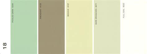 martha stewart paint 5 color palette card 18