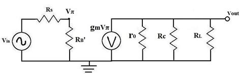 equivalent transistor ac 125 how to calculate vπ vpi of a transistor