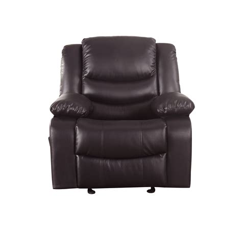 Brown Leather Rocking Chair by Reclining And Rocking Plush Stuffed Brown Bonded