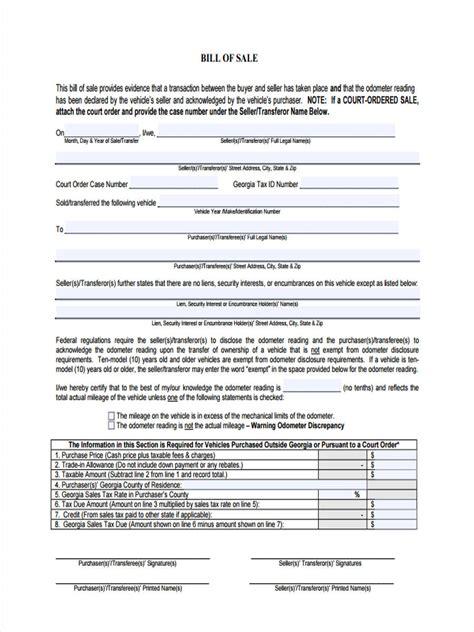 general bill of sale form