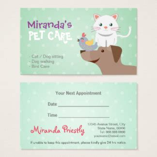 pet sitting business cards template pet sitting business cards templates zazzle