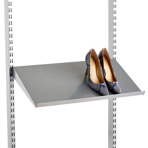 Angled Shelf by Platinum Elfa Angled Solid Metal Shelves The Container Store
