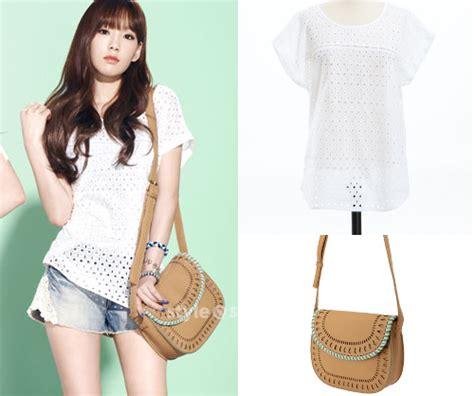 Blouse Taeyeon soshified styling taeyeon