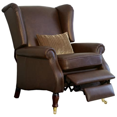 wingback recliner parker knoll york wing chair with manual recliner