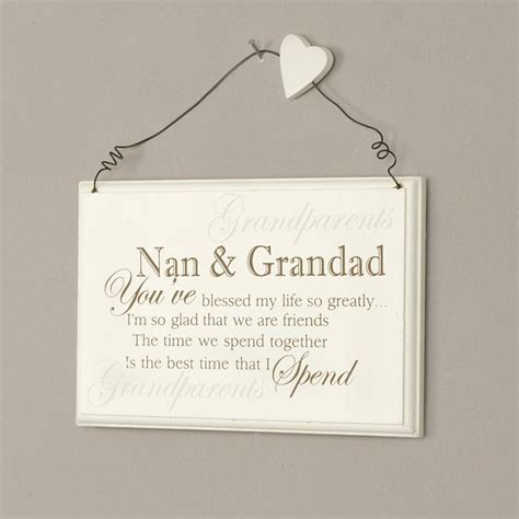 nan gifts for blessed nan and grandad plaque by dibor