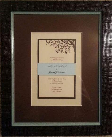 framed wedding invitation 39 best framed wedding memorabilia images on frames preserves and bridal