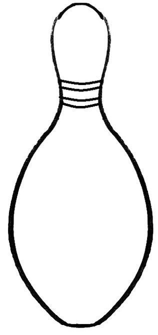 bowling pin template free printable bowling pin template clipart best