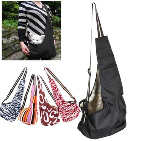 details about 3 size sml black oxford cloth sling pet cat carrier tote single shoulder bag