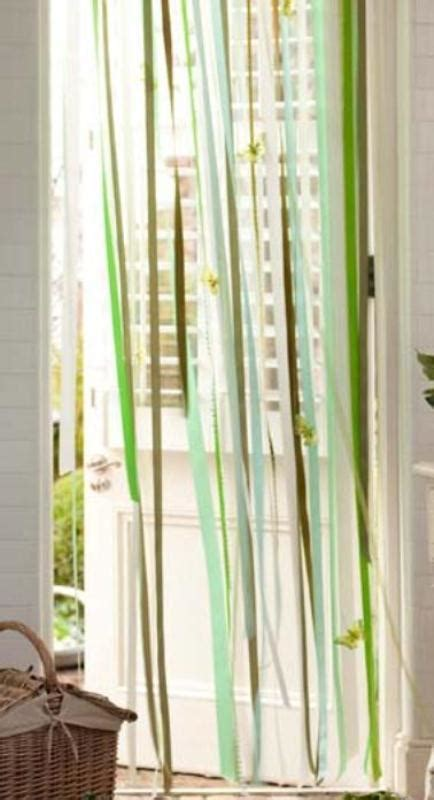 how to make ribbon curtains simple and quick diy ribbon curtain shelterness