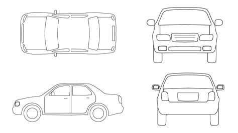 drafting free car cad blocks