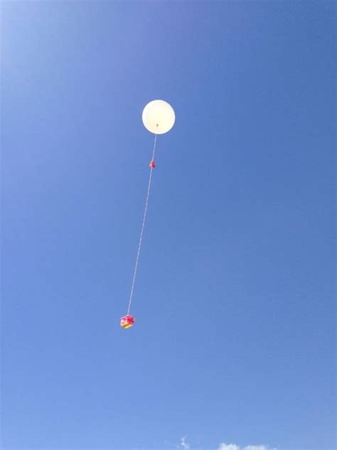 sending weather balloon to space with a