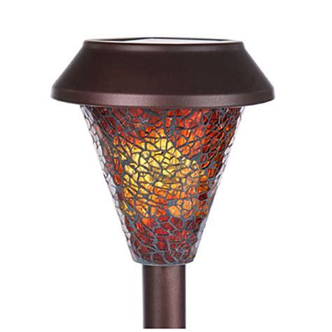 wilson fisher solar lights view wilson fisher 174 grab go mosaic bronze finish 3x