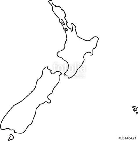 template of new zealand map new zealand map outline vector