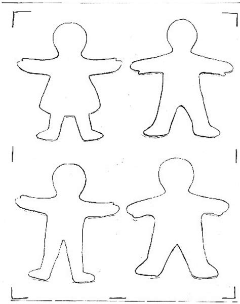 cut out person template best photos of paper cutouts template printable