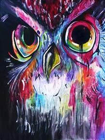 painting rainbow owl painting owls pinterest wat